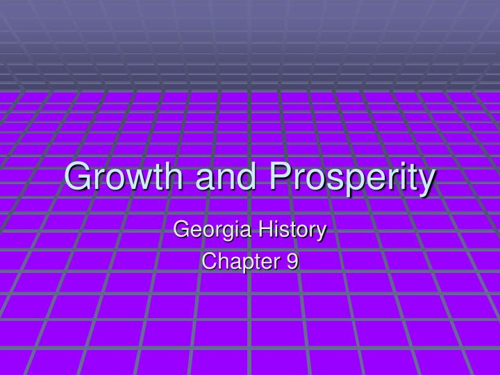 growth and prosperity n.
