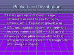 public land distribution