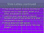 state lottery continued