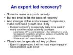 an export led recovery