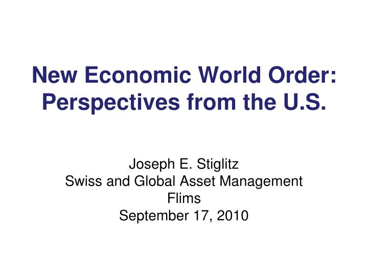 new economic world order perspectives from the u s n.