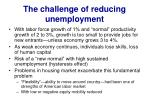 the challenge of reducing unemployment