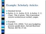 example scholarly articles