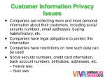 customer information privacy issues