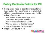 policy decision points for pii