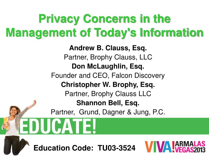 privacy concerns in the management of today s information n.