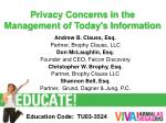 privacy concerns in the management of today s information