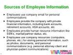 sources of employee information