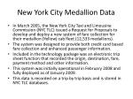 new york city medallion data