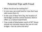 potential trips with fraud