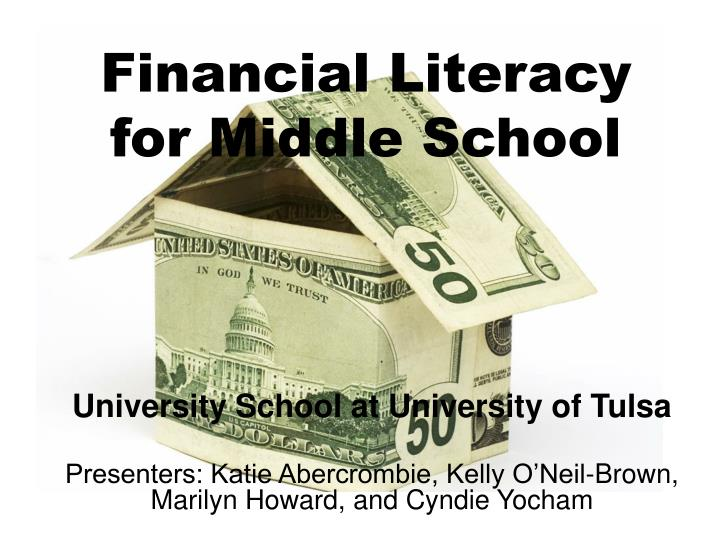 financial literacy for middle school n.