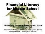 financial literacy for middle school