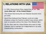 1 relations with usa