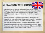 5 realtions with britain
