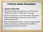 criticism green revolution