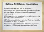 defense for bilateral cooperation