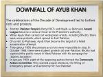 downfall of ayub khan