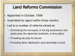 land reforms commission