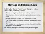 marriage and divorce laws