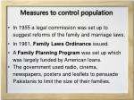 measures to control population