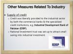 other measures related to industry