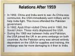 relations after 1959