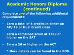 academic honors diploma continued1