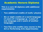 academic honors diploma