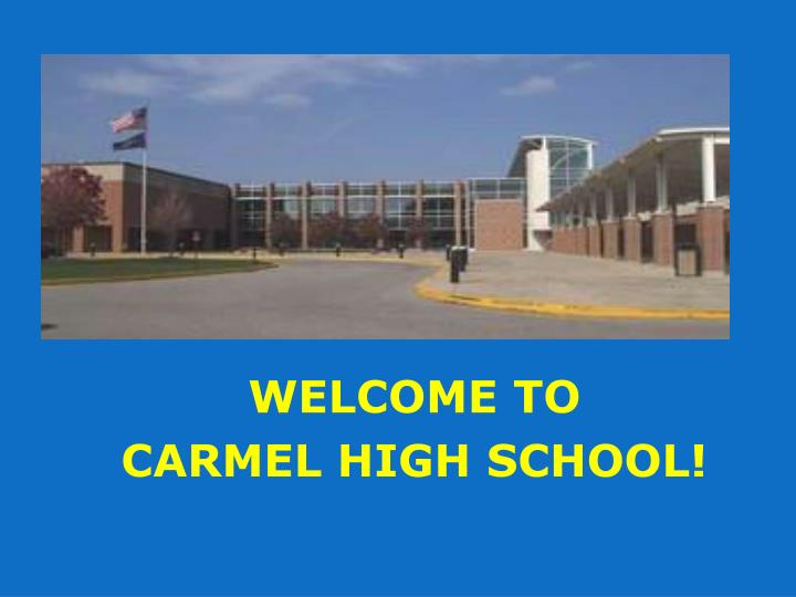 welcome to carmel high school n.