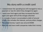 my story with a credit card1