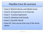 flexible core 6 courses