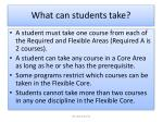 what can students take