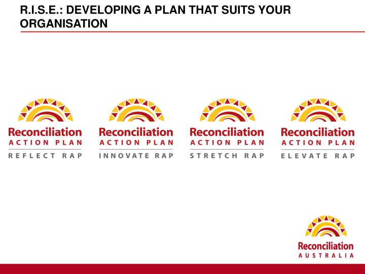 R.I.S.E.: DEVELOPING A PLAN THAT SUITS YOUR ORGANISATION
