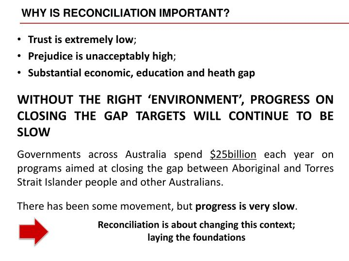 WHY IS RECONCILIATION IMPORTANT?