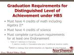 graduation requirements for distinguished level of achievement under hb5