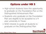 options under hb 5
