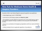 new rule for medicare home health hospice providers