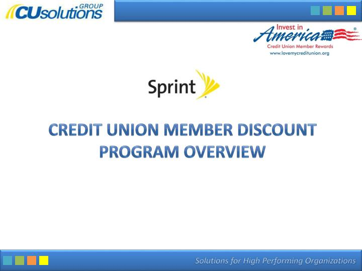 credit union member discount program overview n.