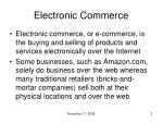 electronic commerce1