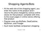 shopping agents bots