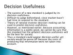 decision usefulness
