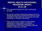 mental health vocational programs mhvp 10 21 28