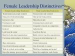 female leadership distinctives