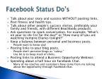 facebook status do s