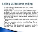 selling vs recommending1