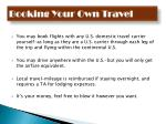 booking your own travel
