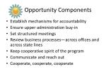 opportunity components