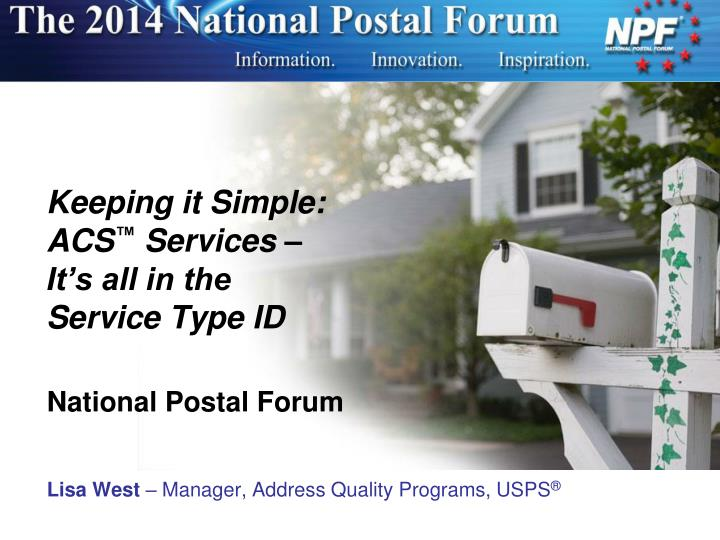 keeping it simple acs services it s all in the service type id n.