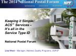 keeping it simple acs services it s all in the service type id