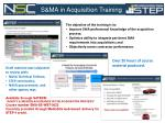 s ma in acquisition training
